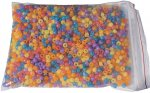 <br>Pictured is a bag of thousands of coloured beads.